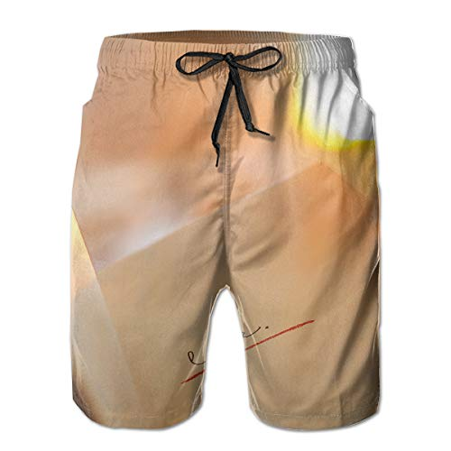 jiger Heren Zwembroek Zomer Cool Snel Droog Board Shorts Badpak, Love Text, Strand Shorts Zwemmen Trunks