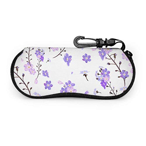 Funda protectora para gafas con diseño de flores románticas apasionadas
