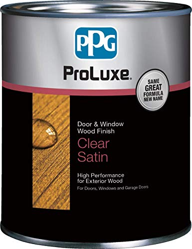PPG ProLuxe Door and Window Wood Finish, 1 Quart, 003 Clear Satin