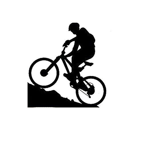 2 Piezas, Pegatinas de Coche, Ciclismo de montaña, Deportes Extremos, Bicicleta, niño, Pegatinas de Parachoques de Coche, calcomanías de Vinilo a Prueba de Agua para Motocicleta portátil, Ventana de