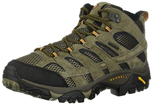 Merrell Men's Moab 2 Mid Waterproof Hiking Boot, Walnut, 9.5 W US