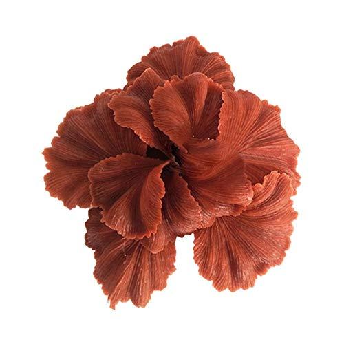 HenShiXin Gepflanzt Gefälschte Coral Gefälschte Aquarium Pflanze Wasser Coral Ornament Fisch-Behälter aus Kunststoff Dekor Ungiftiger Tanks (Color : Coffee, Size : M)
