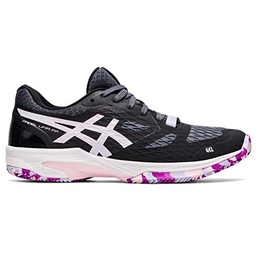 Asics Padel Lima FF, Indoor Court Shoe Mujer, Black/Lilac Opal, 40.5 EU