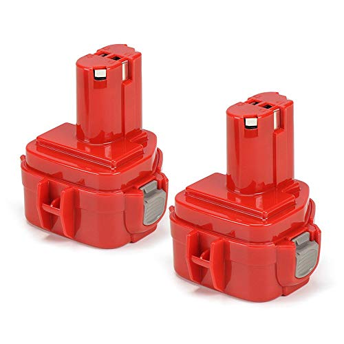 Powtree PA12 Battery 12V NI-MH Replacement Battery Compatible with Makita 1222 1234 1233 1220 PA12 192598-2, 6213d 6217d 6270d 6313d 6227d (2 Pack 2500mah)