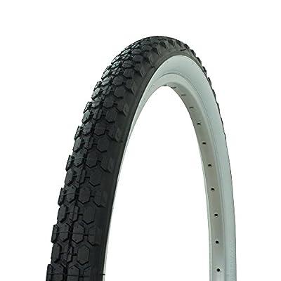 Fenix Cycles Wanda Knobby Tread Cruiser Bike Tire 26in x 2.125in, (Black/White)