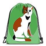 Ahdyr Mochila con cordón bolsa de gato raza linda mascota retrato mullido...
