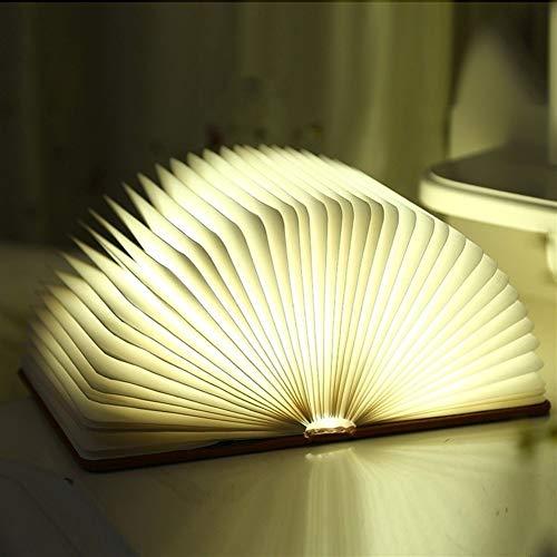 North cool Libro De La Luz, Lámpara Plegable Del Libro, Luz De La Noche Magicfly USB Recargable Libro En Forma De Luz, 2 Colores De LED Lámpara De Mesa For La Decoración, Diseño Magnético, El Medio Am