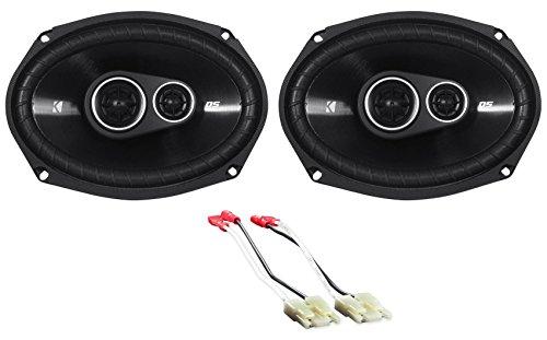 "1 Pair Kicker DSC6934 D-Series 6x9"" 360 Watt 3-Way Car Audio Coaxial Speakers"