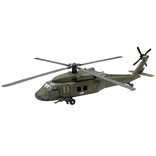 New Ray Sky Pilot UH-60 Black Hawk Diecast Helicopter Replica 1:60 Scale