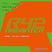 andro(アンドロ) 卓球 ラバー ラザンターR42 トータルバランス性能 112287 クロ(BK) 1.7