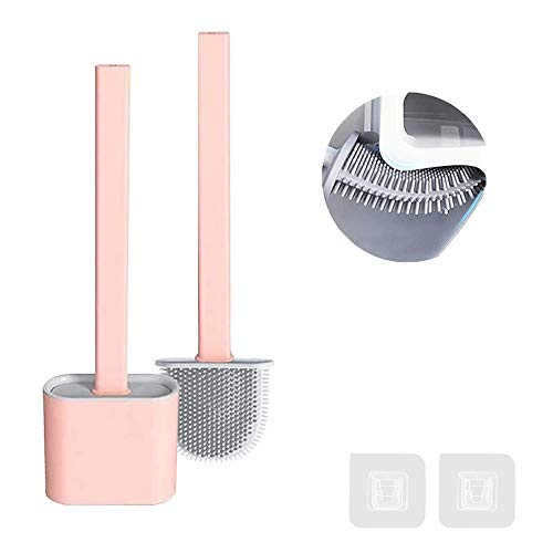 FAFAFA Escobilla WC,Cepillo y Soporte para Inodoro de Silicona,Escobillas de Baño,Escobilla WC...