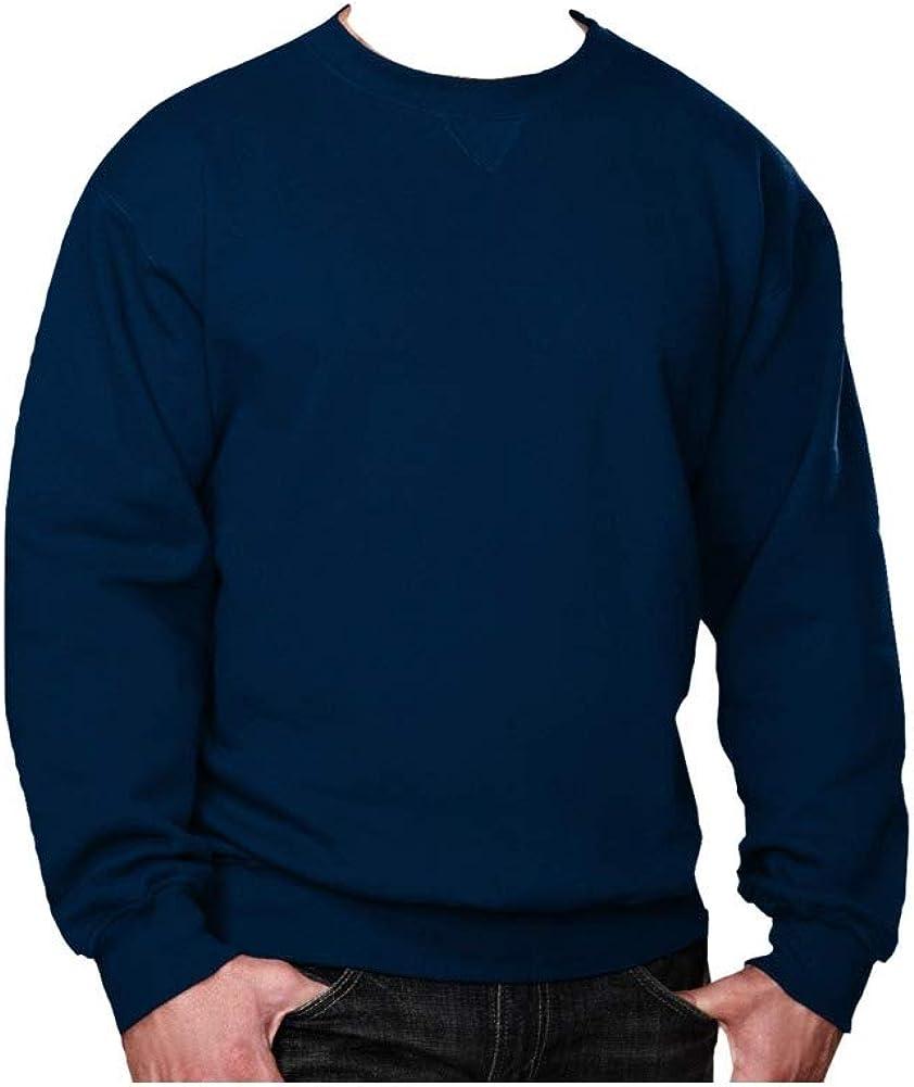 Big and Tall Beefy Fleece Crewneck Sweatshirts to Size 10X in Black, Navy, and Grey