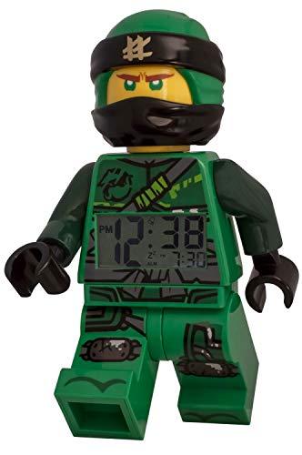 LEGO - Despertador Luminoso con Figura Lloyd Ninjago 9009198 para niños, plástico, Negro, 24 cm