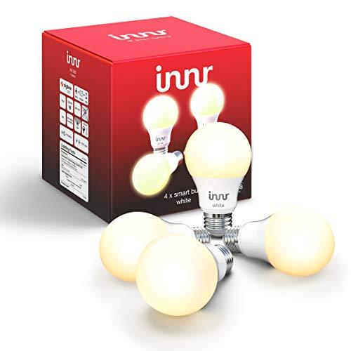 Innr Zigbee Smart Bulb White A19, Works with Philips Hue, SmartThings, Alexa, Google Home (Hub...