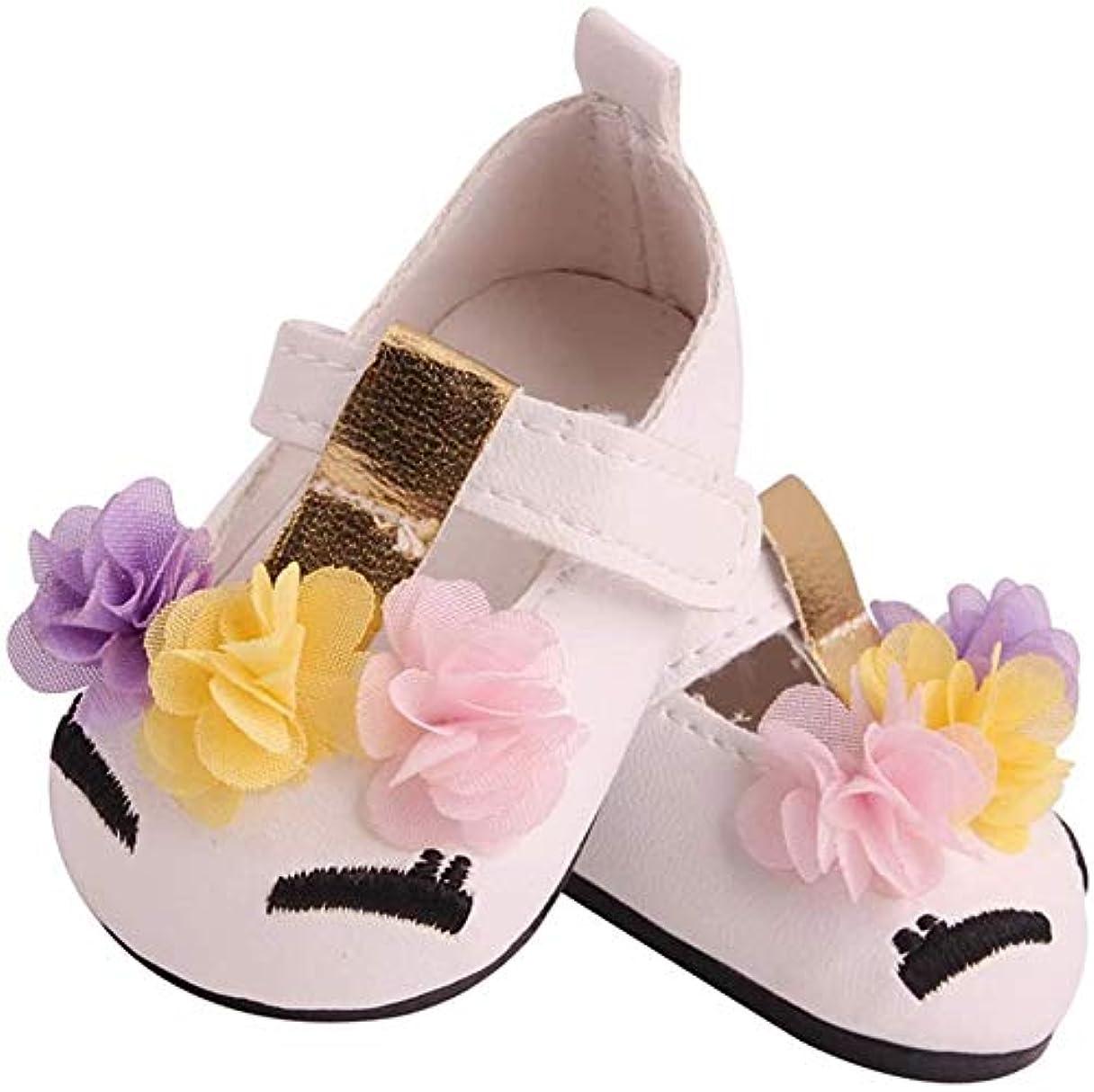 コーラスマットこれまでMAHAXXドールシューズ PUプリンセスシューズ アメリカ人形のシューズ 靴道具 DIY装飾 工芸品 全3色 - 白,白