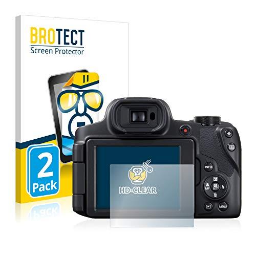 BROTECT Schutzfolie kompatibel mit Canon PowerShot SX70 HS (2 Stück) klare Bildschirmschutz-Folie