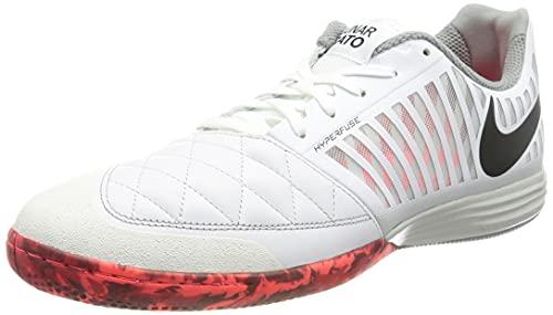 Nike Lunar Gato II IC, Soccer Shoe Hombre, White/Black-Bright Crimson-Grey Fog, 45.5 EU