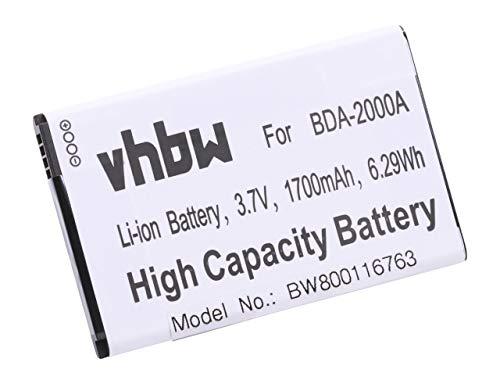vhbw Li-Ion Akku 1700mAh (3.7V) passend für Senioren Handy Smartphone Telefon Doro Liberto 8030, 8031, 822, 825