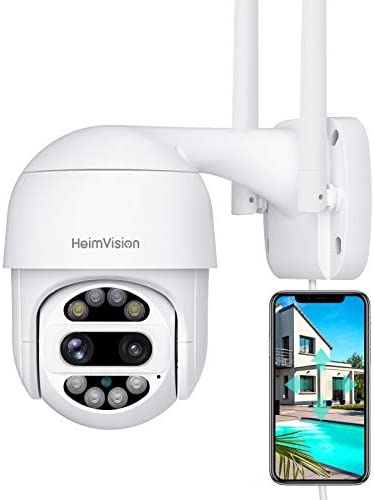 HeimVision PTZ Security Camera Outdoor 2x2MP Ultra HD Dual Lens Pan Tilt 12X Zoom 360 View Wi product image