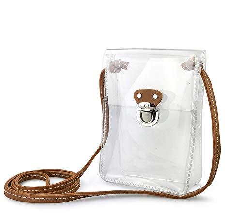 (ホクシス)Hoxis クリアPVC斜め掛けバッグ シンプルなデザイン ビニールバッグ メンズ レディース ミニショルダーバッグ 携帯電話バック 海 リゾート 旅行にぴったり (透明)