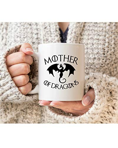 Gale66Lucy Madre de Dragones taza regalo de Navidad para fanáticos de Juego de Tronos, regalo de Navidad para amantes de Juego de Tronos, taza de dragón
