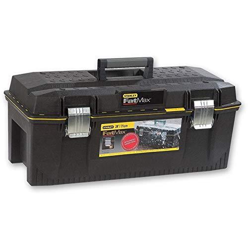 Stanley FatMax Werkzeugbox (71 x 31 x 29 cm, spritzwassergeschützer Koffer, robuste nicht-rostende Metallschließen, Box mit Gummiabdichtung für mehr Schutz) 1-93-935
