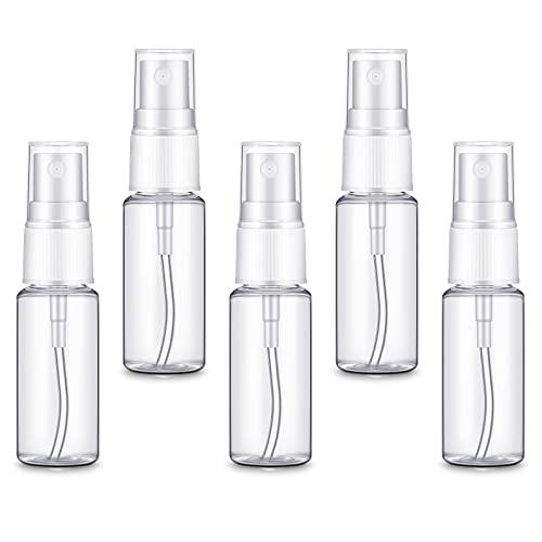 Blulu 5 Stücke 10ml Sprühflaschen Kosmetische Nebelflasche Transparente Kunststoff Sprühflasche Feiner Nebel Sprühbehälter Tragbarer Sprühbehälter für Frauen Reise Nachfüllbare Toilettenartikel
