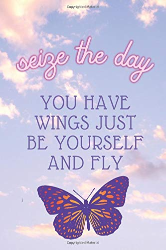 You have wings just be yourself and fly: A lined notebook butterflies A beautiful and elegant journal to write daily lined daily dairy (6*9) 110 pages