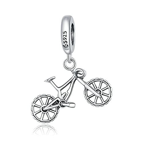Mijn bedels Sterling Silber Charm-Anhänger Mountainbike