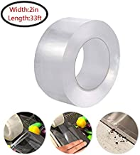 Caulk Tape,Washable Self Adhesive Caulk Sealing Strip Repair Tape for Bathtub Bathroom Kitchen Sink Basin Edge Shower Toilet Kitchen and Wall Mildew Sealing-2in x 33ft