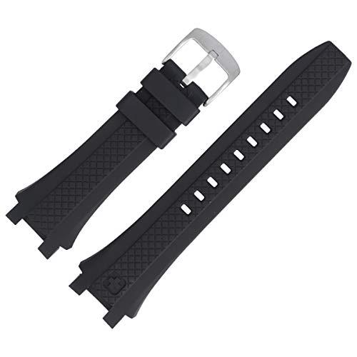 SWISS MILITARY Uhrenarmband 21mm Kunststoff Schwarz - 6-4165.04.007