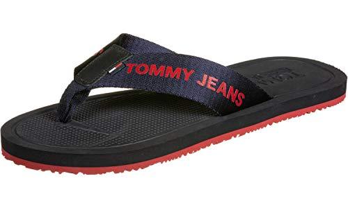 Hilfiger Denim Herren Tommy Jeans Moulded Beach Sandal Zehentrenner, Blau (Black Iris 431), 44 EU