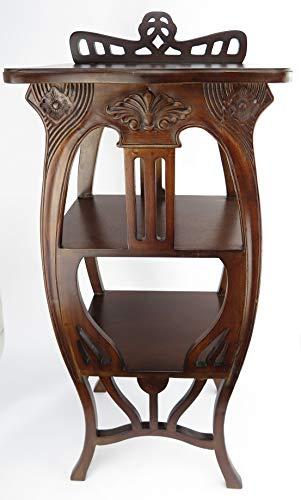 Clever-Deko Blumentisch Beistelltisch Telefontisch Säule antik Gründerzeit Mahagoni Barock Jugendstil