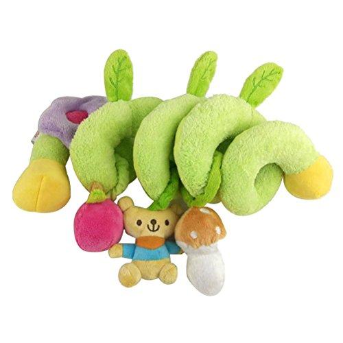 TOYMYTOY Baby Spirale Kinderwagen Spielzeug Kinderbetten Plüschtiere Rasseln Spielzeug (Bär)