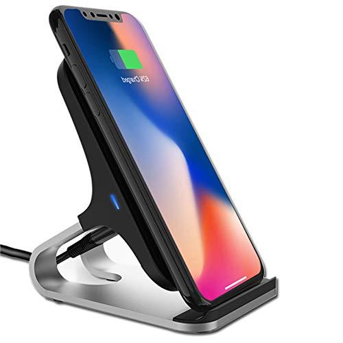 LTLJX Cargador Inalámbrico, 7.5W Compatible con iPhone 12/12 Pro/SE 2020/11/11 Pro/11 Pro MAX/XS/XR/XS MAX/X/8/8+,10W para Galaxy S20+/S20 Ultra/S10+/Note 10/S10E/S9/Note 9/S8/Note8