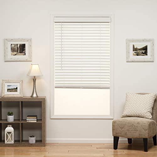 DEZ Furnishings QJWT290480 2 in Cordless Faux Wood Blind 29W x 48L Inches White product image