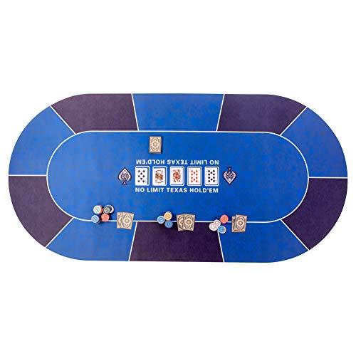 GAMELAND Pokermatte 180 x 90cm, rutschfest, mit Tragetasche, Unterlage Pokertisch/ Poker Tischauflage/ Pokerteppich/ Pokertuch…