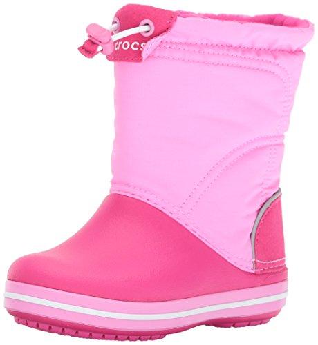 Crocs Crocband LodgePoint Boot Kids, Unisex - Kinder Schneestiefel, Pink (Candy Pink/Party Pink), 24/25 EU