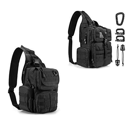 G4Free 2 Tactical EDC Sling Bag with Pistol Holster Sling Shoulder Assault Range Backpack Handgun Bag