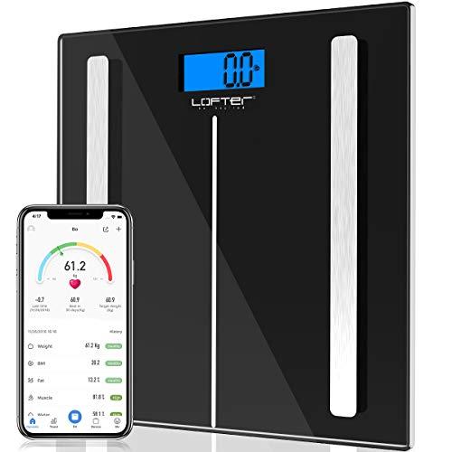 Best Review Of Bluetooth Body Fat Scale, LOFTER Smart Digital Weight Scale Wireless Bathroom Scale 1...