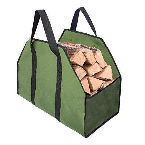 SqSYqz Brennholz Log Carrier-Tasche, große Holzlager Hay Hauling für Kamin Feuerstelle im Freien Camping