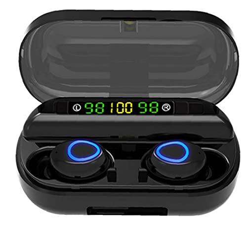 FeelMeet Los Auriculares estéreo Bluetooth F10 Wireless Mini Auriculares de Control táctil del Auricular del Auricular del oído a Prueba de Agua en Negro