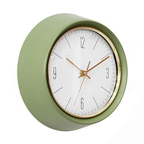 LZL Relojes de Pared Reloj de Pared silencioso Retro Simple Verde Oliva Reloj Redondo Reloj de Pared Reloj Europeo Sala de Estar Dormitorio gráficos de Pared Reloj de Pared