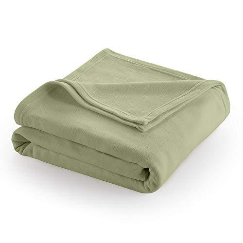 Martex Super Soft Fleece Blanket, Full/Queen, Sage