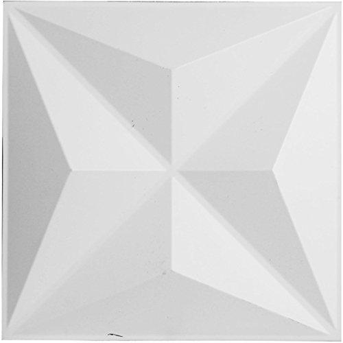 Ekena Millwork WP12X12KEWH Paquete de azulejos, Sencillo, Blanco