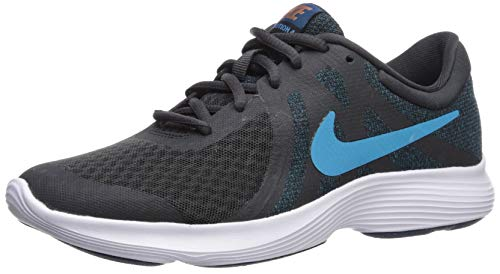 Nike Revolution 4 (GS), Zapatillas de Marcha Nórdica Unisex Niños, Negro (Off Noir/Lt Current Blue/Blue 016), 38.5 EU
