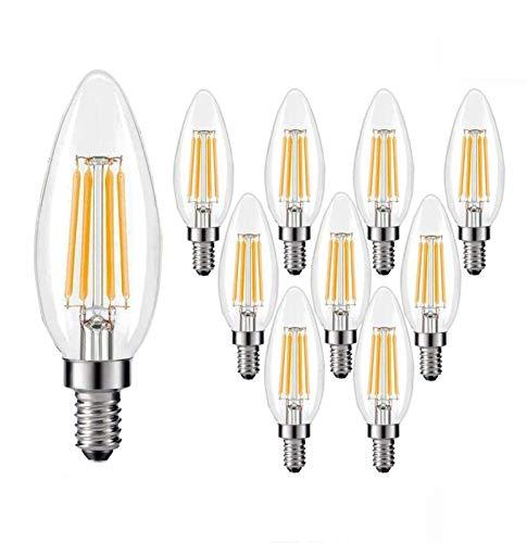 HHGM Bombilla LED, E12 / E14 / E26 / E27 Retro Luz cálida Bombilla Puntiaguda C35, 110V / 220V Luz de Vela Fuente de luz de Cristal Bombilla de atenuación [Clase energética A +],E26