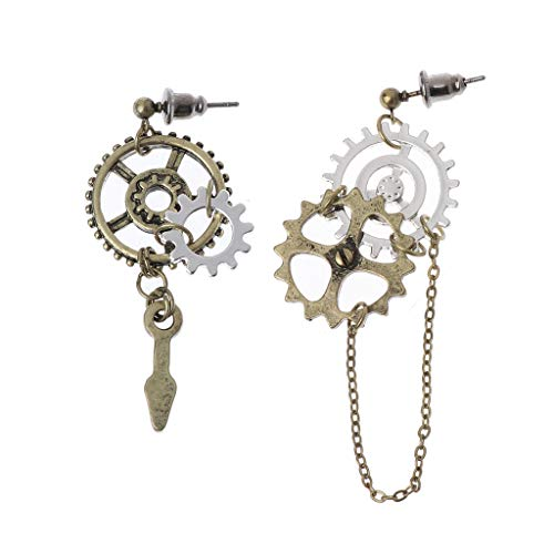 Steampunk victorian gothic industrial earrings,tool for any crazy time traveler, Unique affordable gift for fans of nautical steampunk style. Halloween Christmas birthday gifts Great gift for women, mens, teen girls, boys. 100% brand new and high qua...