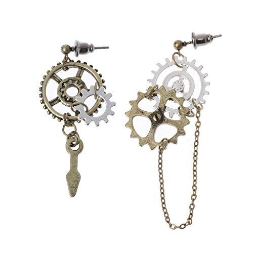 Guangtian Damen Ohrringe Steampunk Antique Women Gear Anhänger Dangle langen Haken Ohrring Club Schmuck für Frauen Mädchen Geschenk