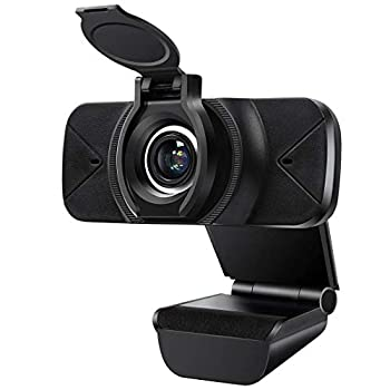 Greatwill 1080P Webcam with Microphone Privacy Cover,Plug & Play USB Webcam Facial-Enhancement Technology Multi-Compatible for Video Conferencing Recording  Black